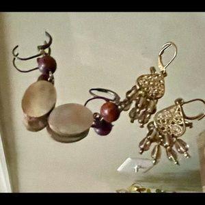 Set of two handmade earrings
